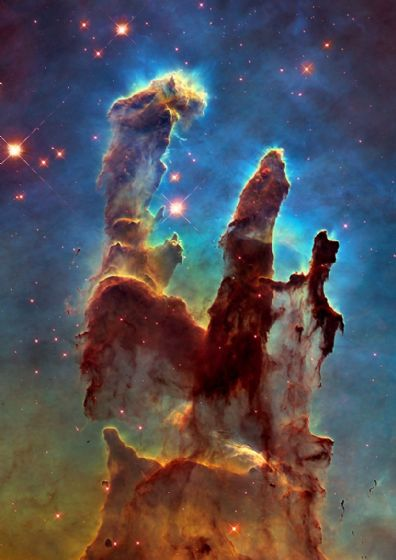 The Pillars of Creation. Hubble Telescope Space Print/Poster (5381)